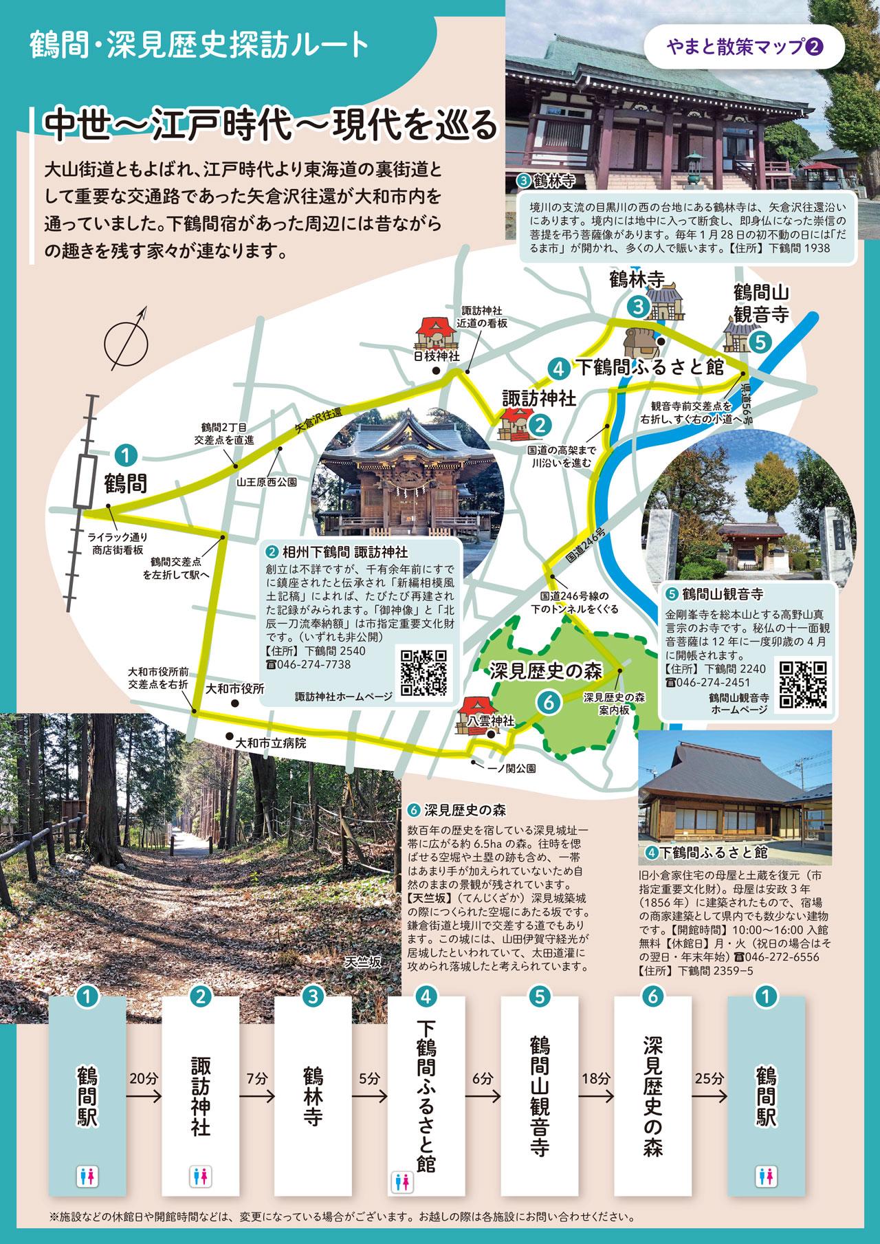 鶴間・深見歴史探訪ルート